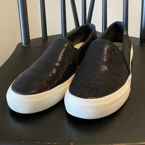 Keds Black Sparkle Sneakers Women's Size 8